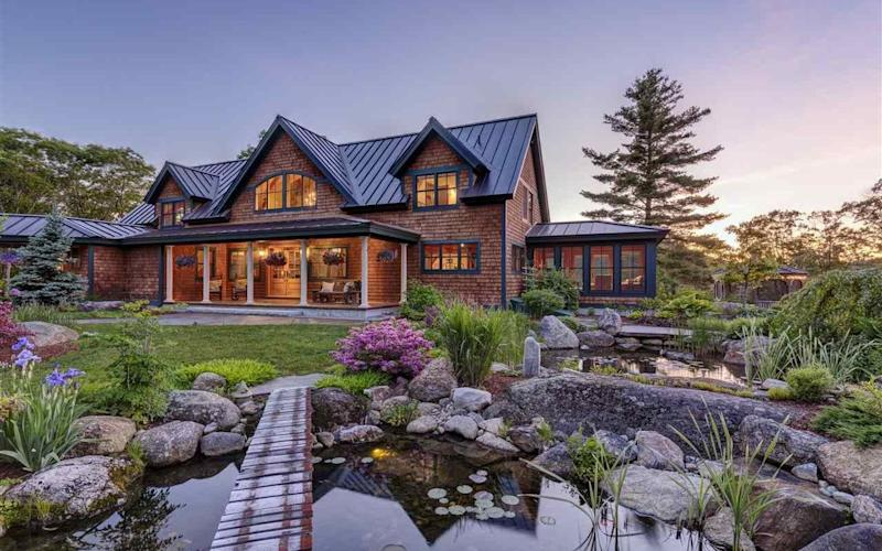 Property which is believed to be the home of Ghislaine Maxwell in Bradford, New Hampshire
