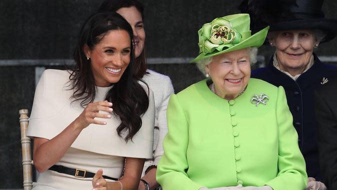Potret kedekatan Meghan Markle dengan Ratu Elizabeth II. (Sumber: @theroyalfamily)