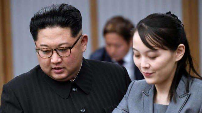 VIVA Militer: Pemimpin Korea Utara, Kim Jong-un, dan adiknya, Kim Yo-Jong