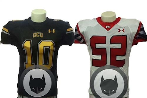 'Batman vs. Superman' Rivalry Moves to L.A. Field With Metropolis and Gotham Football Jerseys (Photos)
