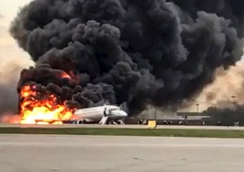 The Aeroflot airliner burst into flames while making an emergency landing at Moscow's Sheremetyevo airport, killing 41 people.