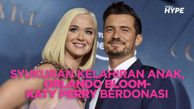 Orlando Bloom dan Katy Perry Berdonasi Sebagai Tanda Syukur Kelahiran Sang Putri