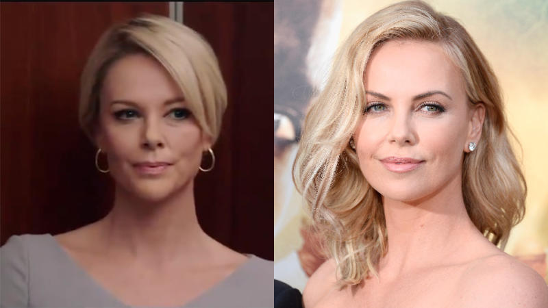 Charlize is barely recognisable under the transformative makeup. Photo: Lionsgate/ Getty