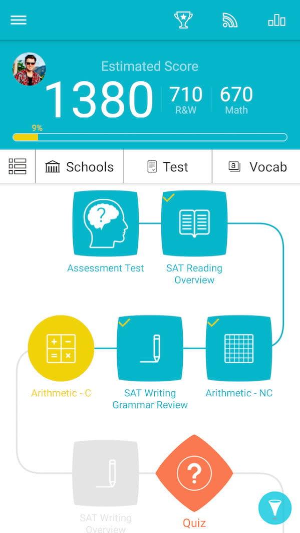 best educational apps sat prep 1