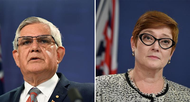 Ken Wyatt and Marise Payne pictured.