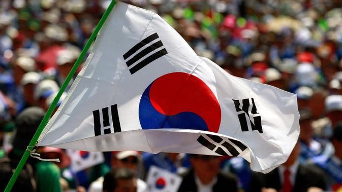 Ilustrasi bendera Korea Selatan (AP/Chung Sung-Jun)