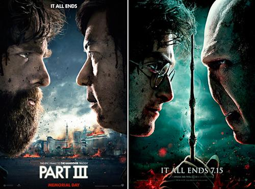 'The Hangover Part III' poster features two-year-old 'Harry Potter' joke