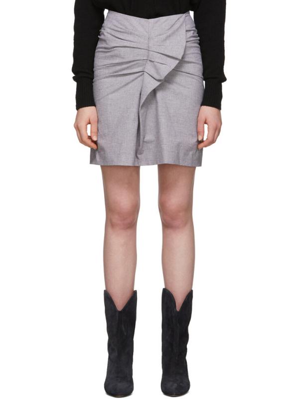 Isabel Marant Etoile Pink & Black Linen Ines Skirt. Image via Ssense.