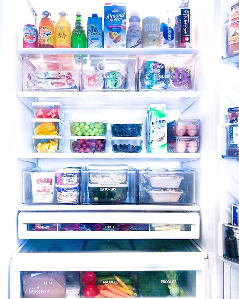 """<p class=""""body-dropcap"""">With so many of us stocking up on food these days to minimize trips to the grocery store, refrigerators across America have turned into jam-packed, crammed-to-the-max spaces. A fridge like this can contribute to food waste—if you can't see what you have on hand, items may be spoiling out of sight—not to mention the fact that it's just immensely unsatisfying to have a poorly organized refrigerator. So<em> ELLE Decor</em> sought out experts Clea Shearer and Joanna Teplin of <a href=""""https://thehomeedit.com/"""" target=""""_blank"""">The Home Edit</a> for help—these two <a href=""""https://www.elledecor.com/design-decorate/interior-designers/a30141126/home-edit-kitchen-organization-tips/"""" target=""""_blank"""">know everything about organizing</a>, and their roster of celebrity clients includes Mandy Moore and members of the Kardashian clan.  Here, Shearer and Teplin share their top eight tips for cleaning out your refrigerator and maximizing your food-storage space.</p>"""