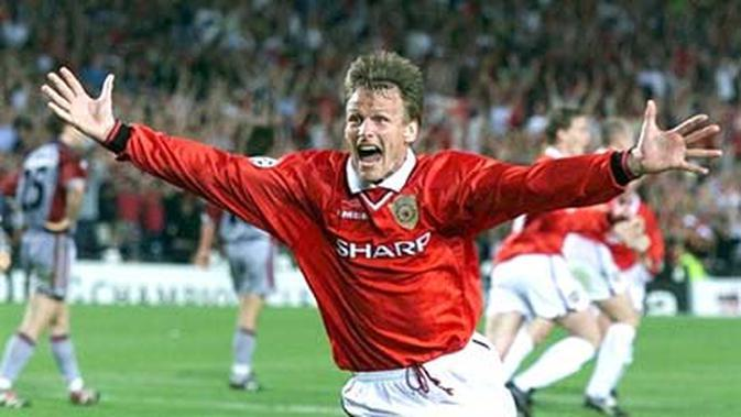 Pemain Manchester United, Teddy Sherringham. (ELECTRONIC IMAGE)