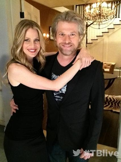 On set at #TBlive #TrueBlood ?with Kristin Bauer van Straten @BauervanStraten Todd Lowe @Todd__Lowe