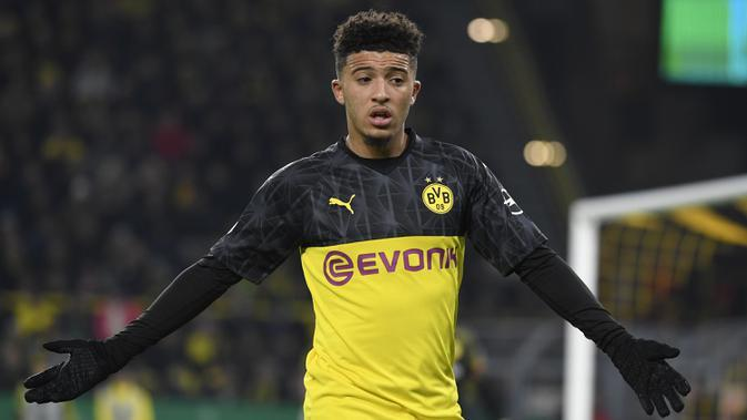 Winger Borussia Dortmund, Jadon Sancho. (AFP/Ina Fassbender)