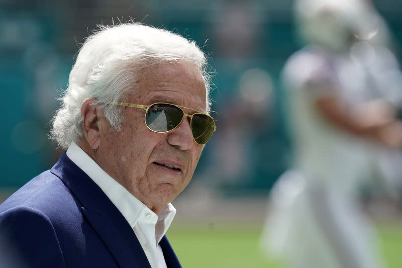 Florida prosecutors drop solicitation charges against owner of NFL's Patriots
