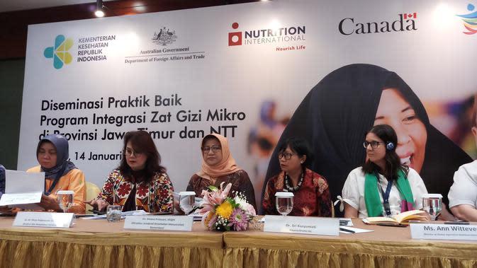 Kementerian Kesehatan RI, Nutrition International (NI), dan Kemitraan Australia dan Kanada. (Foto: Fitri Haryanti)
