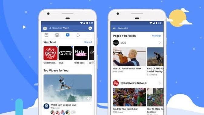 Platfom Facebook Watch kini tersedia untuk pengguna global (sumber: Facebook)