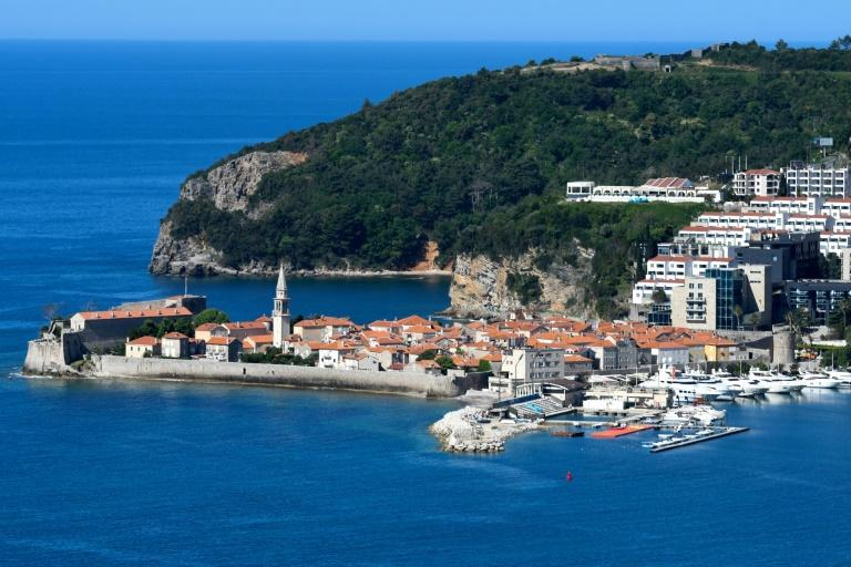 Budva, on the Adriatic coast of Montenegro which is the first country in Europe to declare itself coronavirus-free