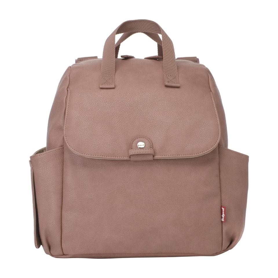 "<p>Carry this <a href=""https://www.popsugar.com/buy/Robyn%20Faux%20Leather%20Convertible%20Backpack%20Diaper%20Bag-451887?p_name=Robyn%20Faux%20Leather%20Convertible%20Backpack%20Diaper%20Bag&retailer=maisonette.com&price=90&evar1=moms%3Aus&evar9=44483623&evar98=https%3A%2F%2Fwww.popsugar.com%2Ffamily%2Fphoto-gallery%2F44483623%2Fimage%2F46198620%2FRobyn-Faux-Leather-Convertible-Backpack-Diaper-Bag&list1=diaper%20bags%2Cbaby%20showers%2Cbaby%20shower%20gifts%2Cmom%20shopping%2Cbaby%20shopping%2Cbaby%20gear&prop13=api&pdata=1"" rel=""nofollow"" data-shoppable-link=""1"" target=""_blank"">Robyn Faux Leather Convertible Backpack Diaper Bag</a> ($90) in two ways, making it ultra versatile.</p>"