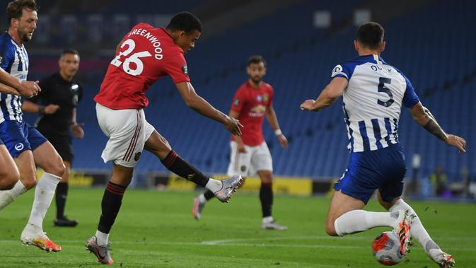 Striker Manchester United (MU), Mason Greenwood (MIKE HEWITT / POOL / AFP)
