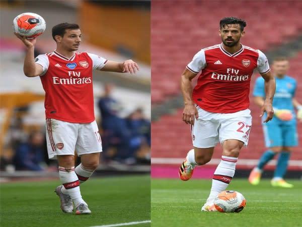 Cedric Soares (L) and Pablo Mari (R) (Photo/Arsenal Twitter)