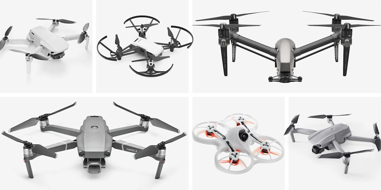 "<p>Personal drones are more capable and more affordable than ever, and they can be a great investment whether you're looking to expand your current, ground-based video or photography toolkit or just wanting to take up a new hobby. It's now possible to dip your toes in for as little as $100 (or even less) and get a drone that you can have fun flying around. Spend a few hundred to a thousand, and you can expect pro-level drones packing better cameras, longer flying times and distances, and more advanced flight capabilities.</p><p>Read on for our reviews of the best, plus advice as you navigate the purchasing process.</p><p><strong>What To Consider</strong></p><p>For better or worse, there's one company that stands pretty far apart from the others when it comes to consumer-level drones: DJI. And that's true whether you're shopping for something on the affordable side of things or a higher-end model. There's a bit more competition when it comes to higher-end commercial drones, but that's not of much benefit to most average pilots.</p><p>The most important consideration when buying a personal drone, however, is to choose the one that best fits your needs—ergo the one that you're most likely to use. An expensive, high-end model could be great for pro-level video, but you might not get as much use out of it as a more affordable, portable drone that you can easily bring along on trips. On the flip side, you don't want a drone that's too limited in capabilities if you're regularly making long flights or piloting it in more difficult conditions.</p><p>For most average users not looking to shoot professional-level video, that will mean a drone somewhere in the area of $400 to $1,500. Most have a flight time in the neighborhood of 30 minutes so you aren't constantly worrying about your battery running dry, and they're able to range at least a couple of miles (some many more). As you move up through that price (and beyond), you'll get more advanced flight capabilities and better cameras. Pricier drones are often simply bigger, too, which can mean steadier flying in turbulence and the ability to carry bigger and better cameras.</p><p><strong>Regulations</strong></p><p>Even an inexpensive drone is a serious tool, not a toy, and you'll want to make sure that you're following all the local regulations when flying one. In the United States and Canada, that starts with registering your drone for a nominal fee if it's above a certain weight (250 grams, or 8.8 ounces, in both countries). Other guidelines are also similar in both countries, and include things like:</p><ul><li>Always keeping your drone within your line of sight.</li><li>Not flying near airports or other restricted areas, including near emergency response efforts.</li><li>Not flying above 400 feet.</li><li>Not flying over people or moving vehicles.</li><li>Not operating your drone while you're under the influence of drugs or alcohol.</li></ul><p>There can be hefty fines for violating the rules, so you'll want to familiarize yourself with them. You can find the full guidelines for the U.S. and Canada from the <a href=""https://www.faa.gov/uas/recreational_fliers/"" target=""_blank"">FAA</a> and <a href=""https://www.tc.gc.ca/en/services/aviation/drone-safety/flying-drone-safely-legally.html"" target=""_blank"">Transport Canada</a>, respectively, and PCMag also has a <a href=""https://www.pcmag.com/news/drone-regulations-what-you-need-to-know"" target=""_blank"">good overview</a> of the basics of drone flying.</p><p><strong>How We Selected</strong></p><p>To pick the best drones, we relied on our own previous knowledge and coverage, researched a range of trusted sources including <em>Wired</em>, <em>CNET</em>, and <em>Wirecutter</em>, and thousands of consumer reviews. Our Consumer Score represents the percentage of people who bought these drones and rated them at least four out of five stars on retail and review sites like Amazon, Best Buy, and the manufacturers' web pages.<br></p>"