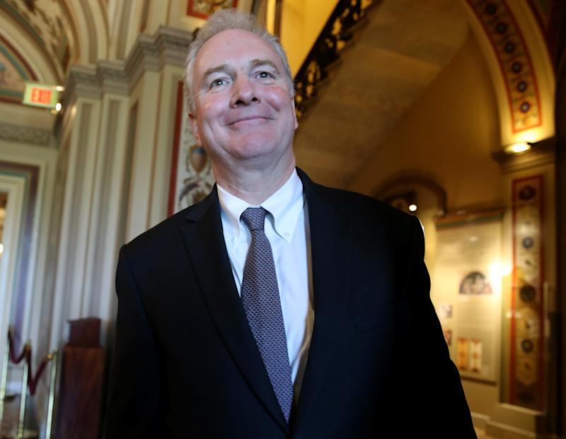 WASHINGTON, DC - AUGUST 01: Sen. Chris Van Hollen (D-MD) talks to reporters after the Senate voted on the budget agreement at the U.S. Capitol on August 1, 2019 in Washington, DC. The Senate passed a two year budget agreement today that lifts the debt ceiling and increases current spending by $320 billion. (Photo by Mark Wilson/Getty Images)