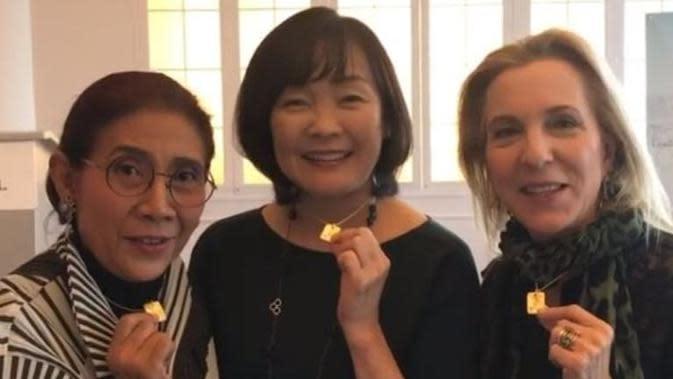 Susi Pudjiastuti bersama istri PM Jepang, Akie Abe dan istri konglomerat AS, Susan Rckefeller. (dok.Instagram @susipudjiastuti115/https://www.instagram.com/p/B4gzGOxnE5Q/Henry)