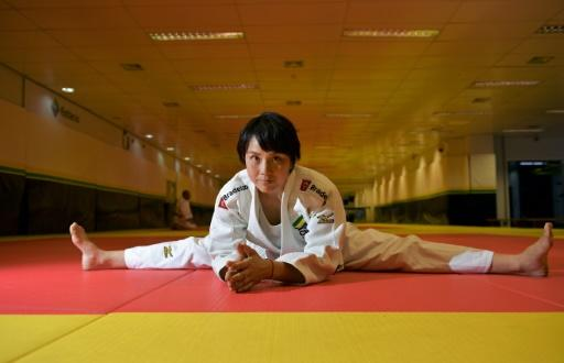Japanese black belt Yuko Fujii, head coach of the Brazilian men's national team, warms up before a class in Rio de Janeiro on June 26, 2018: she made history as one of the very few women in the world to head any top-level male sports team, let alone judo