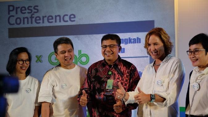 Danone-AQUA kerjasama dengan Grab Indonesia untuk daur ulang sampah plastik