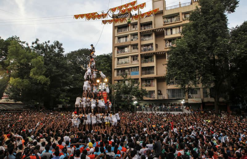 No human pyramids in Mumbai's 'Lord Krishna' festival due to coronavirus