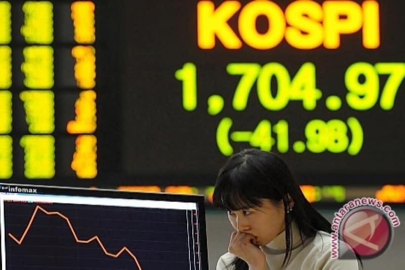 Akhir pekan, bursa saham Seoul ditutup jatuh 1,49 persen