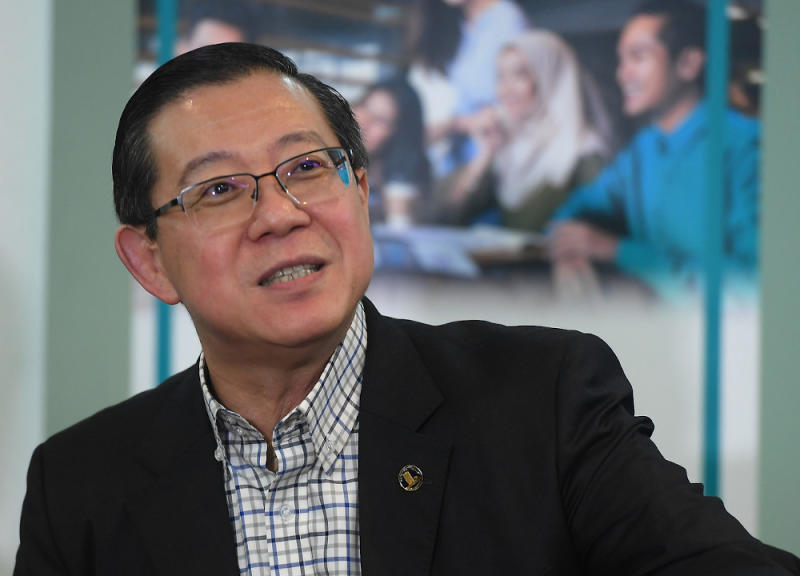 Lim Guan Eng predicts Putrajaya may be pressured into extending the Covid-19 loan moratorium by a Warisan Plus win in the Sabah state election. — Bernama file pic