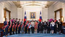 蔡總統接見十大傑出青年 肯定他們讓世界看到臺灣