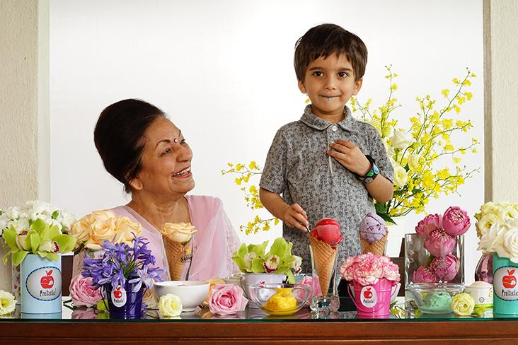 The youthful looking Mohana Gill with her grandson, Ari. – Pictures courtesy of Mohana Gill