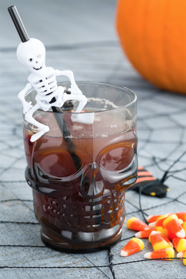 "<p>Finally, the guy at your Halloween party who's <em>still</em> dressing up as Captain Jack Sparrow will have an excuse to say, ""Where's all the rum gone?"" because this spiked pomegranate-pineapple punch always disappears quickly.</p><p>Get the recipe from <a href=""https://www.delish.com/cooking/recipe-ideas/videos/a44091/boozy-witchs-brew-is-the-drink/"">Delish</a>.</p>"
