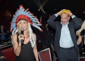 Heidi Klum, Tom Hanks Take On Village People Classic At Fundraiser