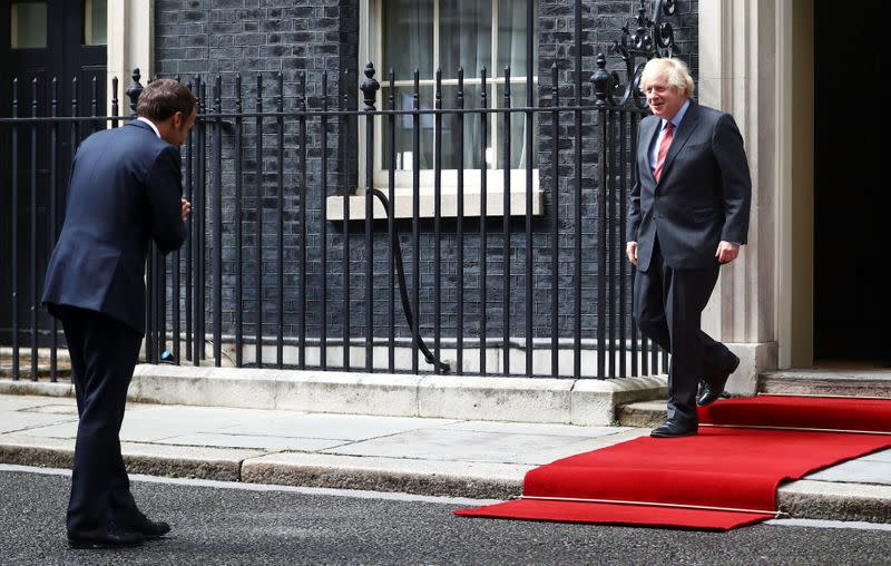 Diplomacy in the time of coronavirus: Johnson and Macron trade bows, thumbs up