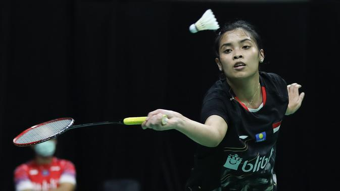 Gregoria Mariska Tunjung pada perempat final PBSI Home Tournament 2020, Kamis (23/7/2020). (PBSI)