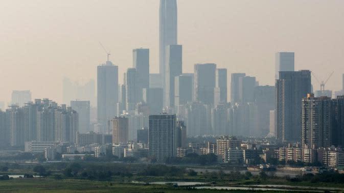 Ilustrasi kota Shenzhen (AFP/Anthony Wallace)