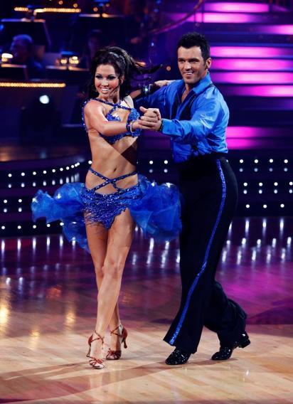 """Melissa Rycroft and Tony Dovolani perform the Samba to """"Jaleo"""" by Ricky Martin on """"Dancing with the Stars."""""""