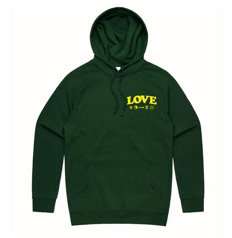 """<p><strong>Aware</strong></p><p>theawarebrand.com</p><p><strong>$40.00</strong></p><p><a href=""""https://theawarebrand.com/products/love-hoodies"""" target=""""_blank"""">Buy</a></p><p>Make sweatshirts, not war.  </p>"""