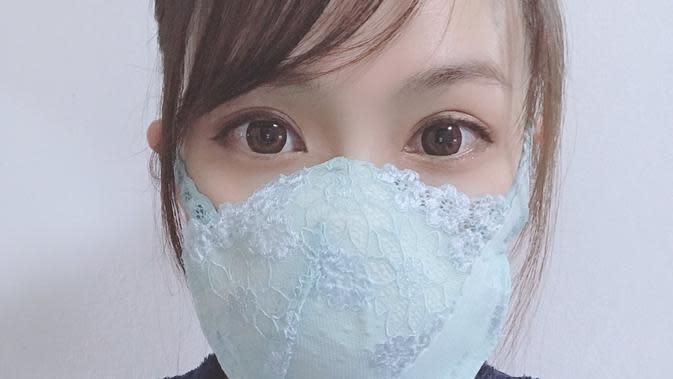 Model Jepang ubah bra tak terpakai menjadi masker untuk perlindungan dari virus corona (Dok/Twitter/asahinayumeno)