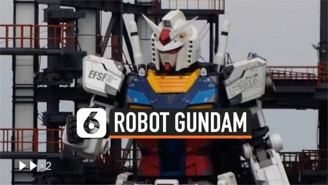 VIDEO: Melihat Gerakan Perdana Robot Gundam 18 Meter di Jepang