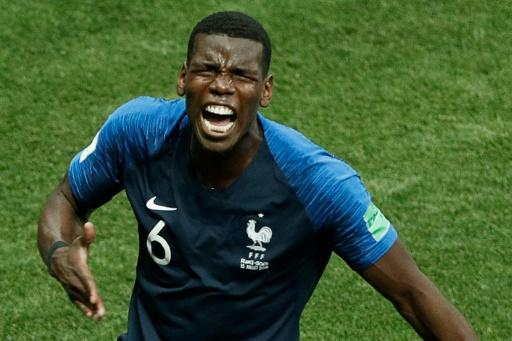 France midfielder Paul Pogba celebrates after scoring in the World Cup final