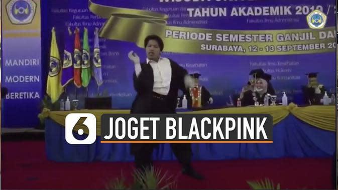 VIDEO: Bikin Rektor Terpukau, Ini Aksi Dhanar Jabro Joget Blackpink di Panggung Wisuda