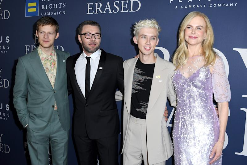 Nicole and Troye starred alongside Lucas Hedges and Joel Edgerton in the recent flick, Boy Erased. Photo: Getty Images