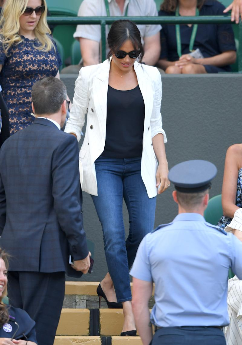 Meghan was at the tennis to watch friend Serena Williams play, rather than in an official royal capacity. Photo: Getty