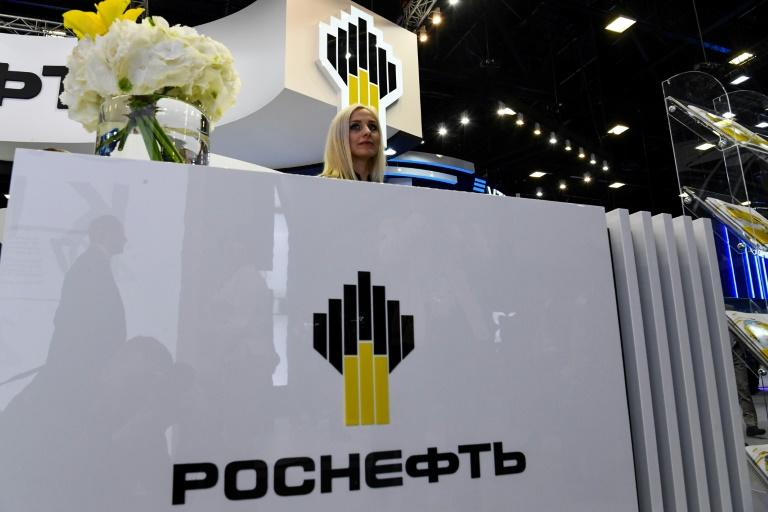 The stand of Russian oil giant Rosneft, which has been active with Venezuela, at the Saint Petersburg International Economic Forum in 2018