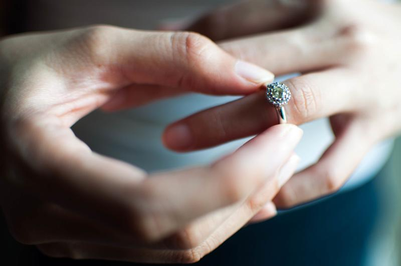 Woman Facing Dilemma With Giant Brick Engagement Ring She