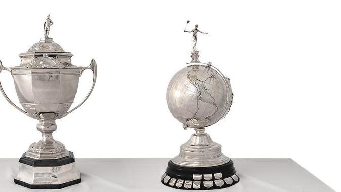 Trofi Piala Thomas dan Uber. (BWF)