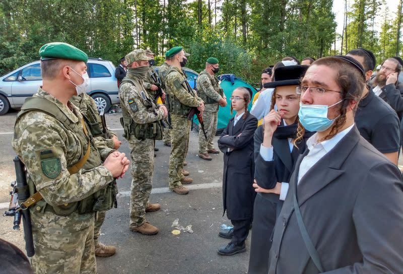 Ukraine and Belarus argue over Hasidic Jewish pilgrims stranded at border